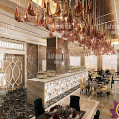 Beautiful interiors of restaurants from Katrina Antonovich Eclectic style dining room by Luxury Antonovich Design Eclectic