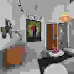The Kinder House - Pejaten, Jakarta Selatan Ruang Keluarga Gaya Asia Oleh Asta Karya Studio Asia Kayu Wood effect