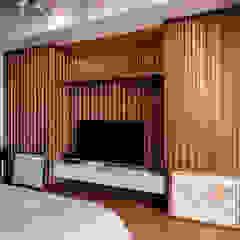 Pondok Indah Residence Kamar Tidur Gaya Industrial Oleh FIANO INTERIOR Industrial Kayu Wood effect