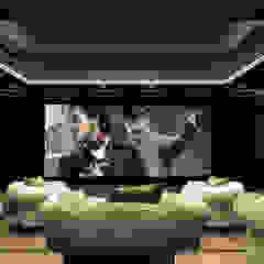 Private Cinema por dome4u - domotica - integração - engenharia Moderno Madeira Acabamento em madeira