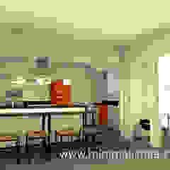 Sala comedor y cocina integrada - San Isidro-Lima Cocinas de estilo industrial de Minimalistika.com Industrial Aglomerado