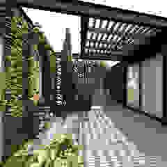 Industrialny ogród zimowy od Rodrigo Westerich - Design de Interiores Industrialny Drewno O efekcie drewna