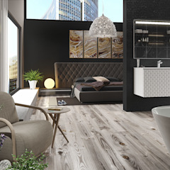 Luxury Hotel apartment Minimalist bedroom by Linken Designs Minimalist Wood Wood effect