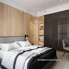 臥室設計 Modern Bedroom by 鼎士達室內裝修企劃 Modern Solid Wood Multicolored
