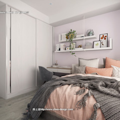 桃園黃宅 Modern Bedroom by 鼎士達室內裝修企劃 Modern Solid Wood Multicolored