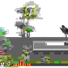 Desain Taman Untuk Halaman Luar Pagar Oleh Tukang Taman Surabaya - Tianggadha-art Modern Batu