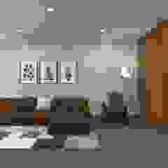 Remodelação Interior de Habitação Salas de estar asiáticas por arcq.o | rui costa & simão ferreira arquitectos, Lda. Asiático