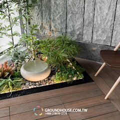 Balkon, Beranda & Teras Gaya Asia Oleh 大地工房景觀公司 Asia