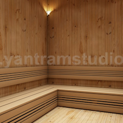 Choosing The Best Steam Room In House Design Ideas by Yantram 3d interior rendering services Moscow من Yantram Architectural Design Studio كلاسيكي خشب Wood effect