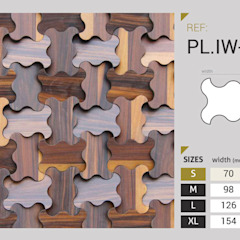 Pladec - Painéis de Madeira Origami Centros de exposições modernos por CreativeArq Moderno Madeira Acabamento em madeira