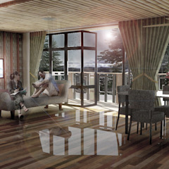 Permaeble House Ruang Keluarga Gaya Asia Oleh Scande Architect Asia Bambu Green