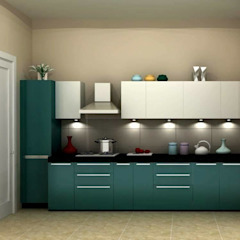 Asian style kitchen by Golden Spiral Productionz (p) ltd Asian
