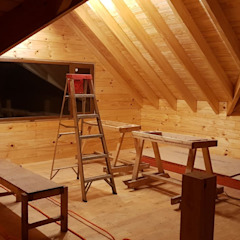توسط Patagonia Log Homes - Arquitectos - Neuquén اسکاندیناویایی چوب Wood effect