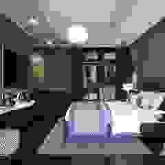 Thiết kế nội thất Penhouse Masteri Millenium - Phong cách hiện đại kết hợp Đông Dương Phòng ngủ phong cách châu Á bởi ICON INTERIOR Châu Á