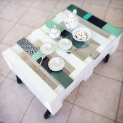 Revì Art - Upcycling Furniture Design Office spaces & stores Kayu White