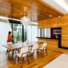 The Grove, Lakefield Asian style dining room by Studio BEVD Asian