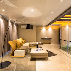 The Upper Floor Modern Corridor, Hallway and Staircase by Planet Design & Associates Modern
