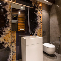 The Powder Room Modern Bathroom by Planet Design & Associates Modern