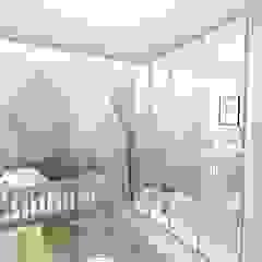 Quarto do bebê por Bonomiveras Arquitetura Escandinavo