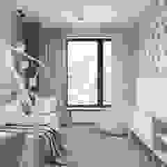 DZIEWCZĘCA SKANDYNAWIA Skandynawski pokój dziecięcy od UTOO-Pracownia Architektury Wnętrz i Krajobrazu Skandynawski