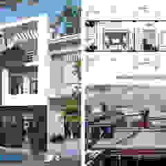 Quá trình thiết kế với nhiều thuận lợi nhờ sự giúp đỡ của gia chủ Asian style houses by Công ty Thiết Kế Xây Dựng Song Phát Asian