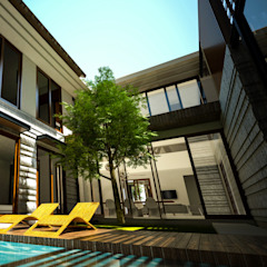 Daylight House Balkon, Beranda & Teras Tropis Oleh AIGI Architect + Associates Tropis