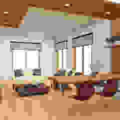HOUSE ŌKUBO Spogliatoio moderno di Studio Maiden Moderno Legno Effetto legno