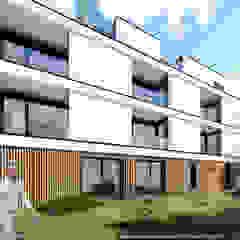 Projecto habitacional Abbe Bourbon por OGGOstudioarchitects, unipessoal lda Minimalista Madeira Acabamento em madeira