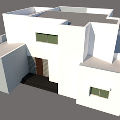 por Hector Arquitecto Eclético Compósito de madeira e plástico