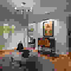 Corredores, halls e escadas clássicos por Design Studio Yuriy Zimenko Clássico Madeira Acabamento em madeira