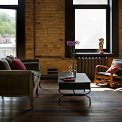 Salas de estar industriais por Design Studio Yuriy Zimenko Industrial Tijolo