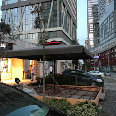 Akaydın şemsiye Front yard Aluminium/Zinc Grey
