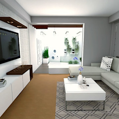 Home Staging - Departamento de Mauriola Arquitectos Moderno Madera Acabado en madera