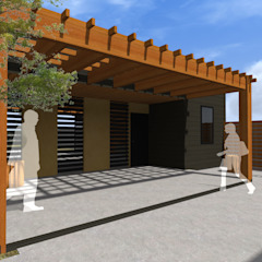 by Vicente Espinoza M. - Arquitecto Rustic Wood Wood effect
