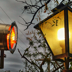 Lamparas Vintage Vieja Eddie สวนไฟกลางแจ้ง เหล็ก Multicolored