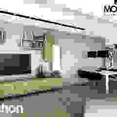 Casa prefabbricata Siena Sala multimediale moderna di Domus Green Moderno