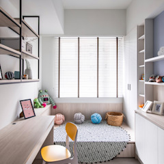 Scandinavian style study/office by 達譽設計 Scandinavian