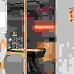 板橋吉村.牛舌 Yoshimura 根據 湜湜空間設計 隨意取材風 水泥