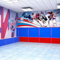 Minimalist stadiums by Дизайн - студия Александры Усольцевой Minimalist
