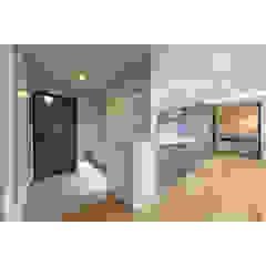Moderner Flur, Diele & Treppenhaus von WITHJIS(위드지스) Modern Aluminium/Zink
