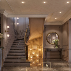 Kareem Mohammed Designs Corridor, hallway & stairs Stairs Concrete Beige