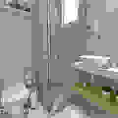CASA 834 Banheiros minimalistas por BRUNA MARTINS Arquitetura + Interiores + Paisagem Minimalista Azulejo
