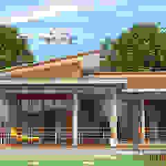 od แบบบ้านออกแบบบ้านเชียงใหม่ Eklektyczny Beton