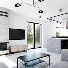365 Stopni Living room Concrete Black