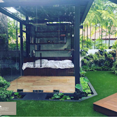 Sunroom in the Garden Eclectic style garden by Singapore Carpentry Interior Design Pte Ltd Eclectic