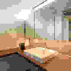 はなあふ家 北欧スタイルの お風呂・バスルーム の アーキシップス古前建築設計事務所 北欧
