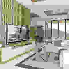 Desain Interior Modern Tropis Menawan Ruang Keluarga Tropis Oleh PT. Leeyaqat Karya Pratama Tropis