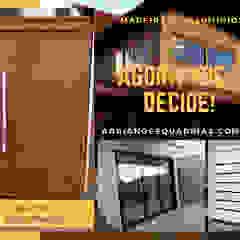 MADEIRA OU ALUMÍNIO? AGORA VOCÊ DECIDE! por Adriano Esquadrias Moderno Alumínio/Zinco