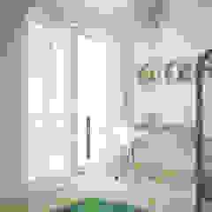Projekt domu Skandynawski pokój dziecięcy od hexaform Skandynawski