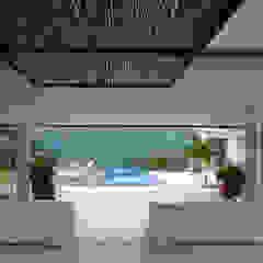 Tropical style pool by NOAH Proyectos SAS Tropical Bamboo Green
